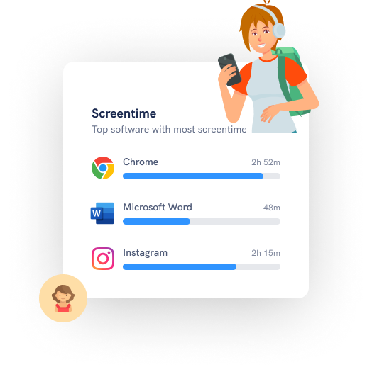 Get insights on which app your sudents are using on their device