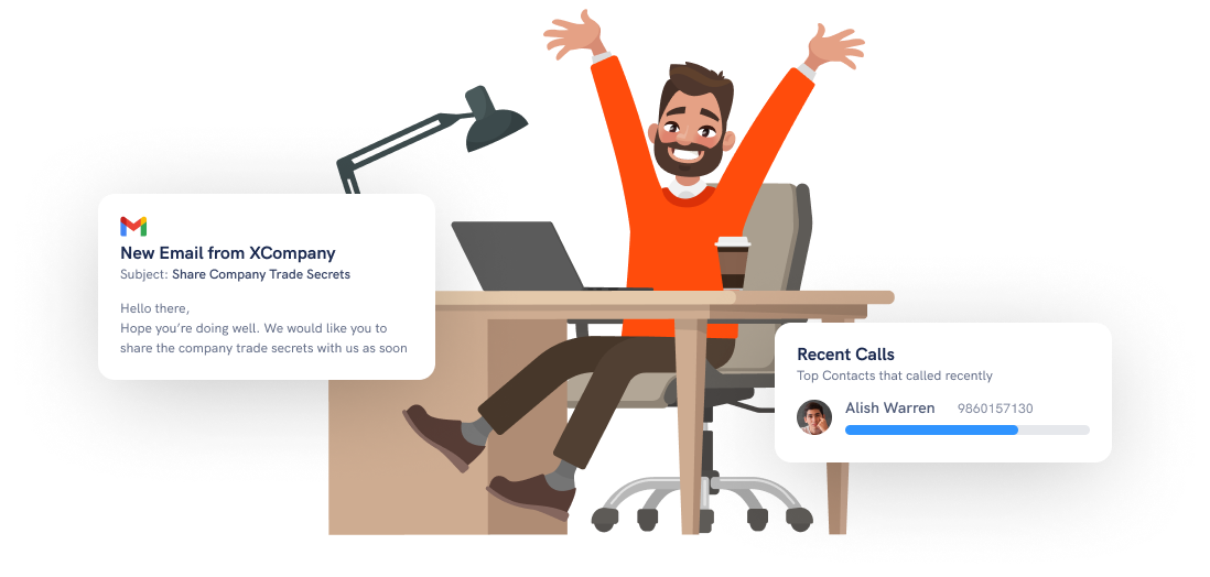 Secure your work environment and data with fenced.ai for employees